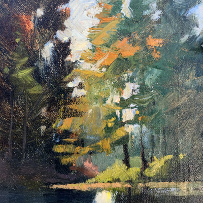 Pete's Lake 6X8 | oil on panel | SOLD