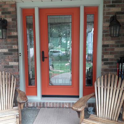 Door with full lite & sidelites