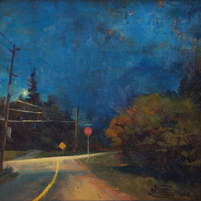 Morning Drive 11X14  |  oil on panel  | SOLD
