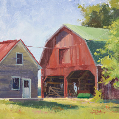Old Barns 9X12  |  oil on panel  |  $500.00