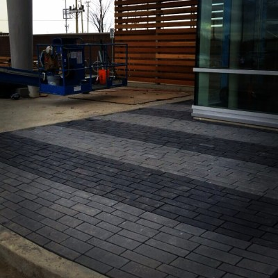 Permeable pavers have them on your next ICI project call Lakeridge Contracting
