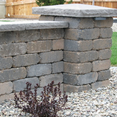 Quarry Stone Wall with Pillar