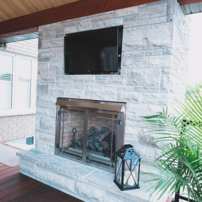 wiarton building stone natural gas insert