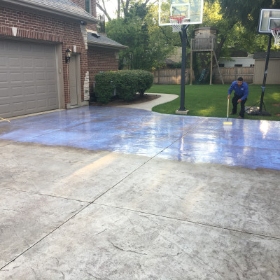 IN PROGRESS: Stamped Concrete Sealing