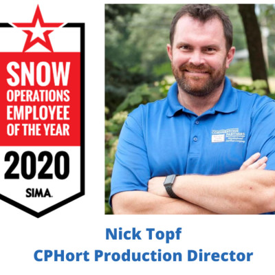 Nick Topf, ASM, Snow Operations Employee of the Year 2020