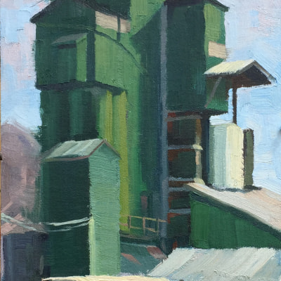 Green Monster 8X16 | oil on panel | SOLD