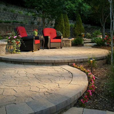 Patios and living spaces