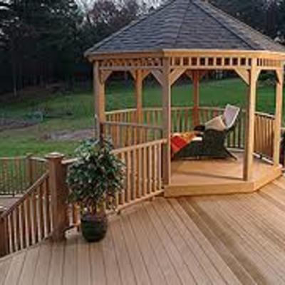 Built in gazebo.