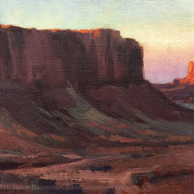 Monument Valley 8 X 16 | oil on panel  | $600.00