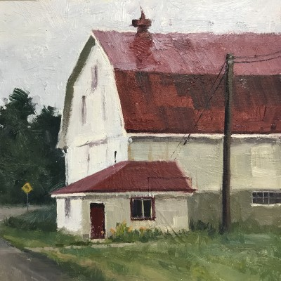 Frost Road 8X8  |  oil on panel | $300.00