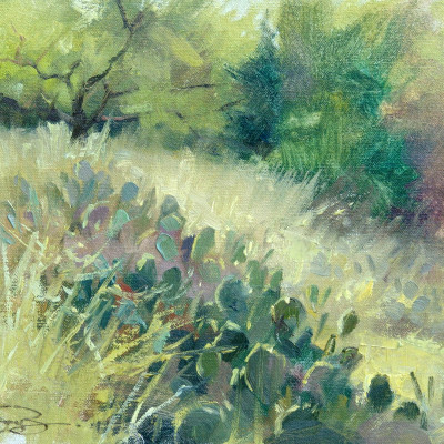 Prickly Pear 9X12   oil on panel     SOLD
