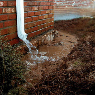 Downspout/Foundation Pooling