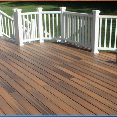Ipe Decking with Composite Railing