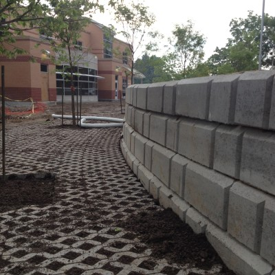 Have a large block segmental retaining wall on your site?  Were ready!
