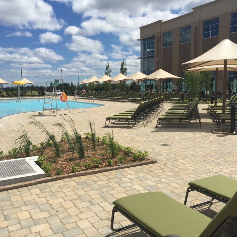 Pool deck Lifetime Fitness