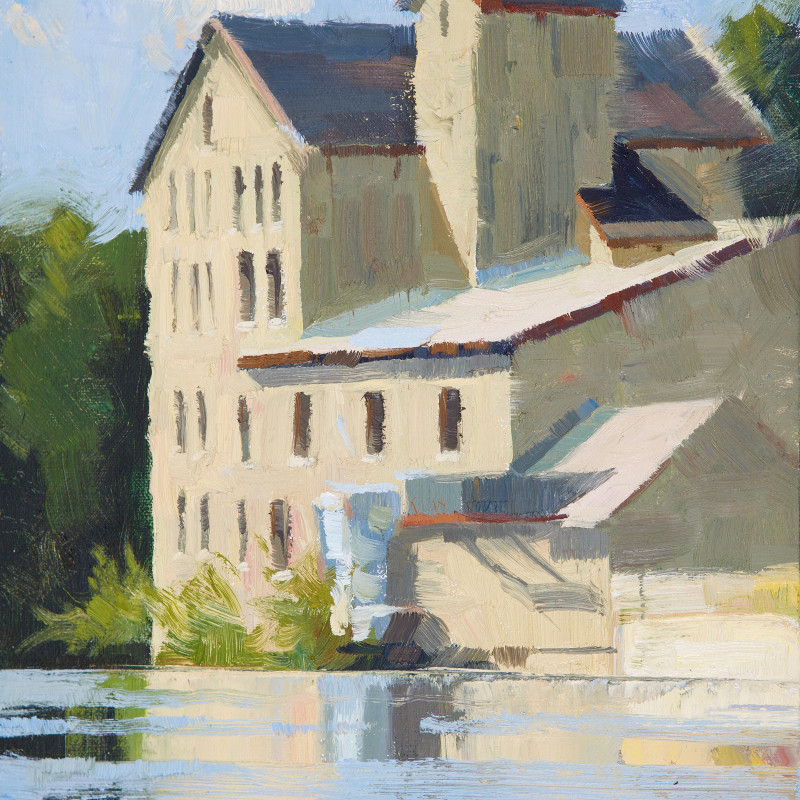 Elora Old Mill 9X12 | oil on panel | SOLD