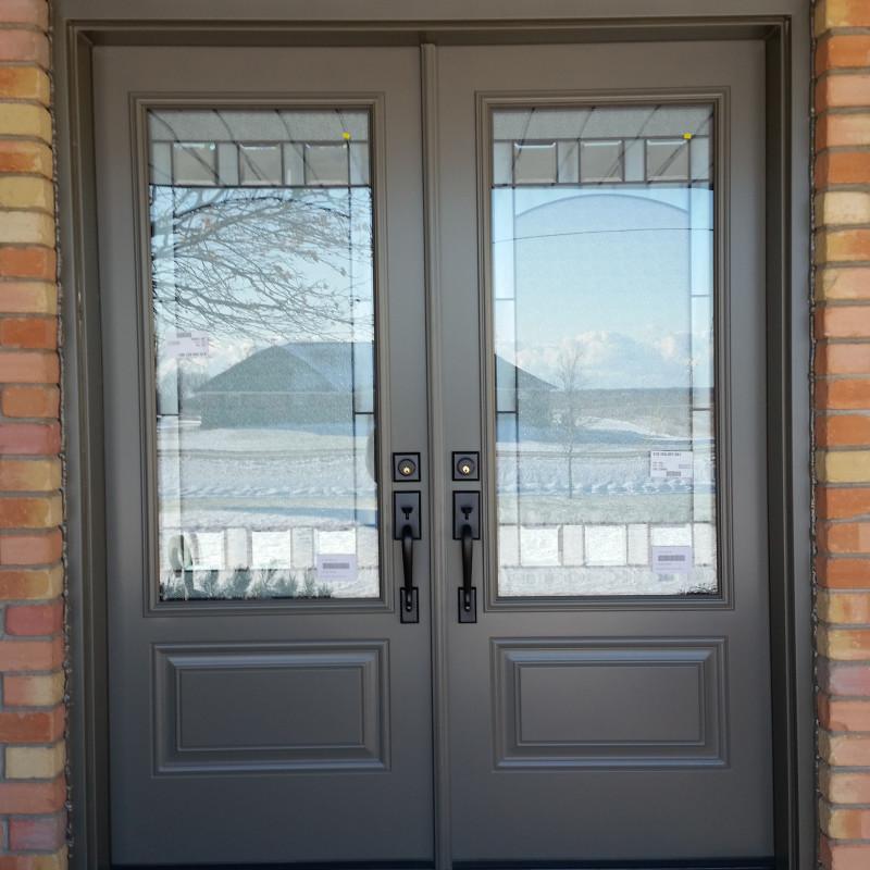 Double Doors with 3/4 lite