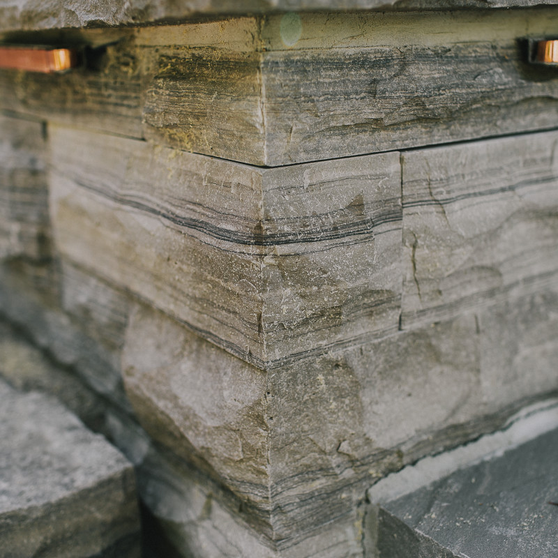 dry stacked natural stone