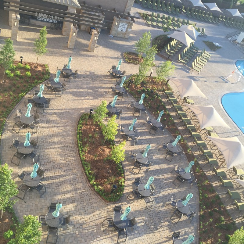Outdoor bistro area Lifetime Fitness Ajax