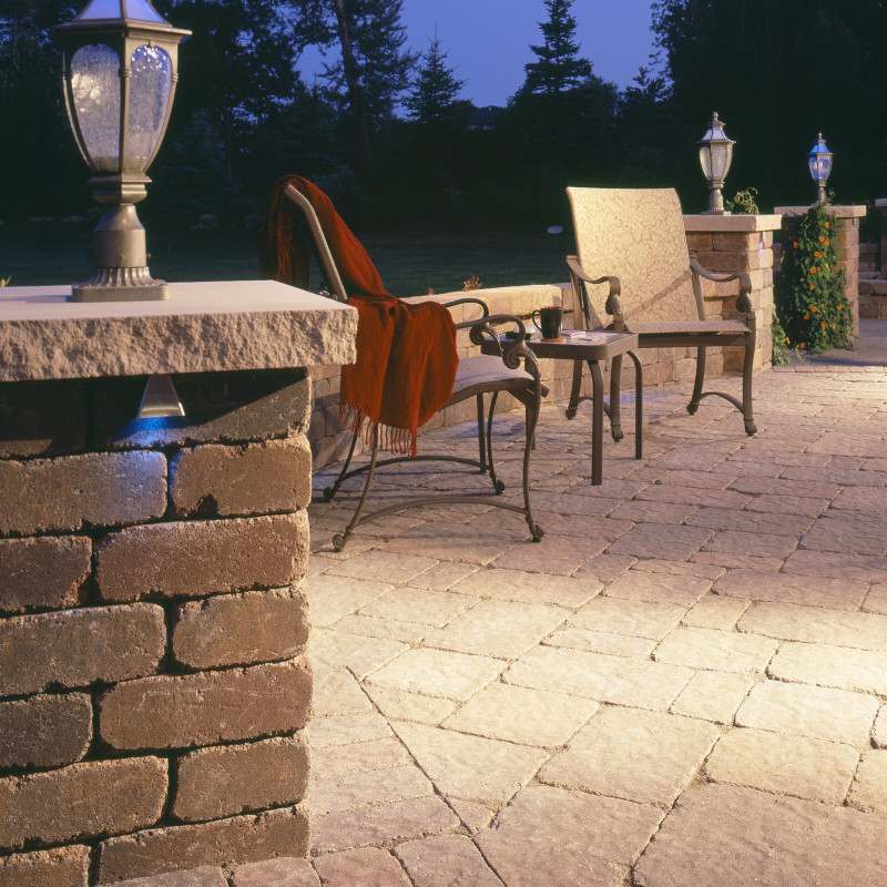 Paver pillars and patio