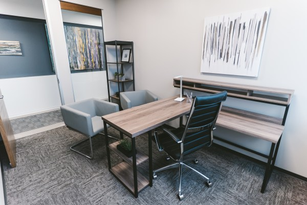 Small private office in executive suite configuration