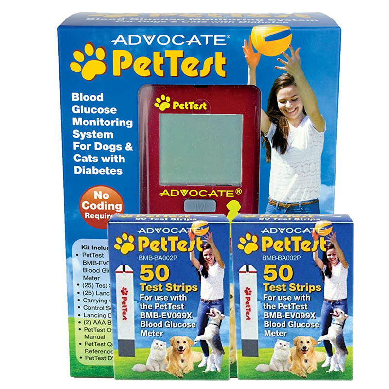 Advocate Pet test Blood Glucose Monitoring