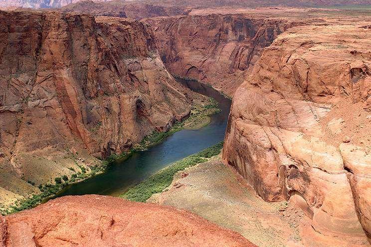 Llegar al abismo del Gran Cañón del Colorado a través de la ruta 66