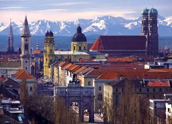 La moderna y reconstruida ciudad de Múnich