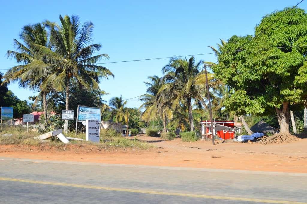 Las casas rojas de Mozambique.