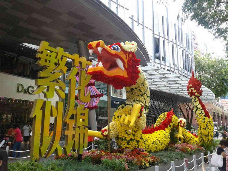Bienvenida al dragón en Singapur