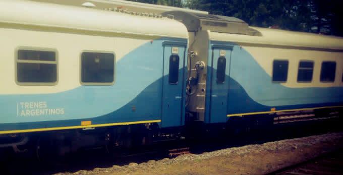 En tren a Mar del Plata (Argentina)