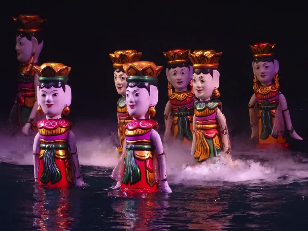 Marionetas sobre el agua en Vietnam