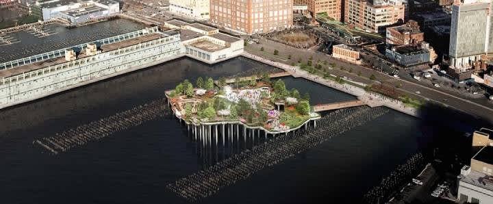 Visitar Little Island el parque flotante de Nueva York