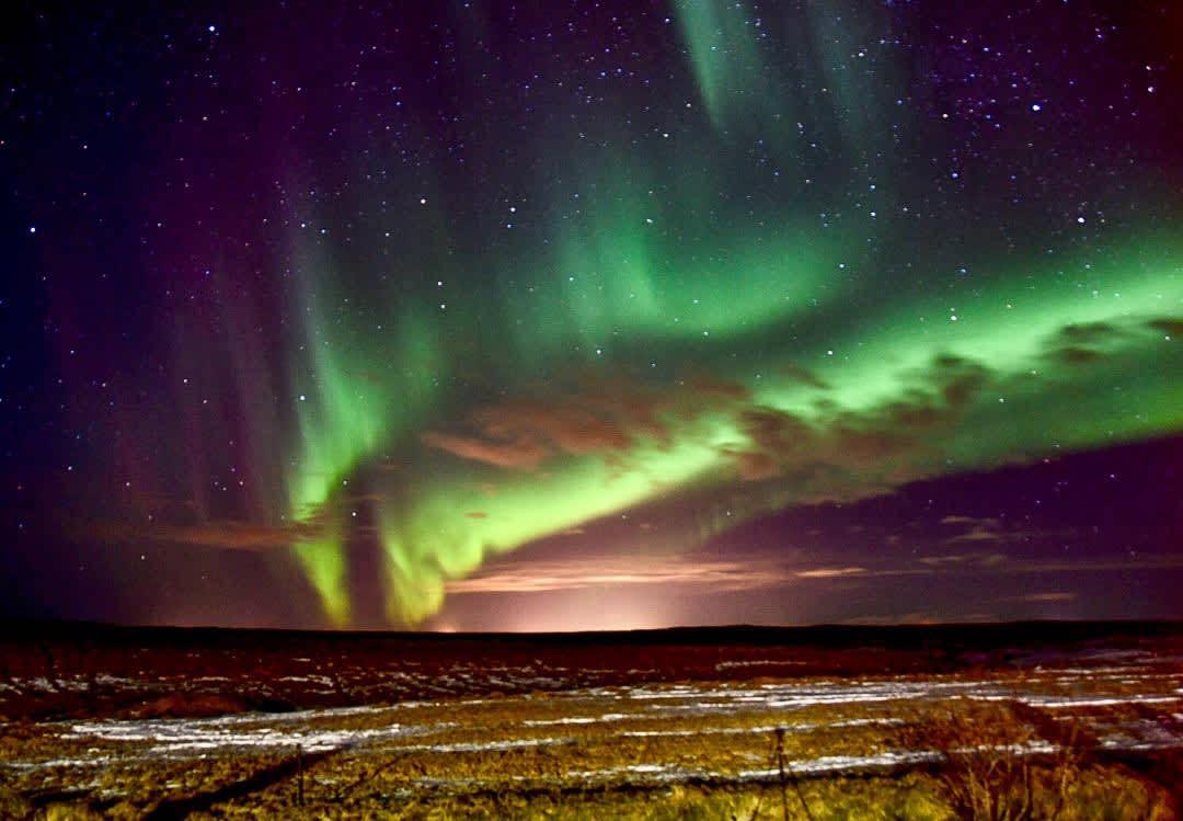 A la caza de las auroras boreales en Hella, Islandia