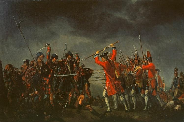 """Reproducción de """"An Incident in the Rebellion of 1745"""" (1746), por David Morier"""