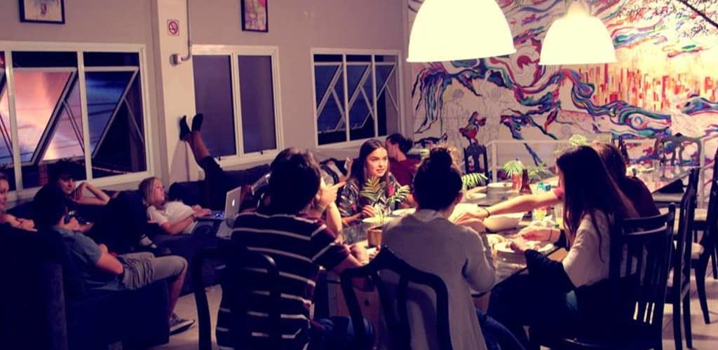 sala de convivência do Viva Hostel Design
