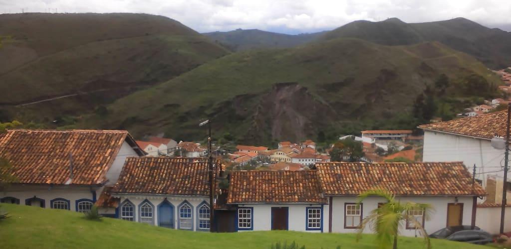vista panorâmica de cidade mineira