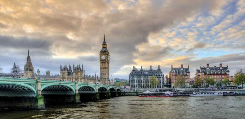Punto turístico de Londres, buena ciudad para viajar sola en Europa
