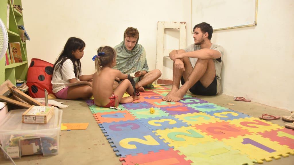 Trabalho social com familias e crianças