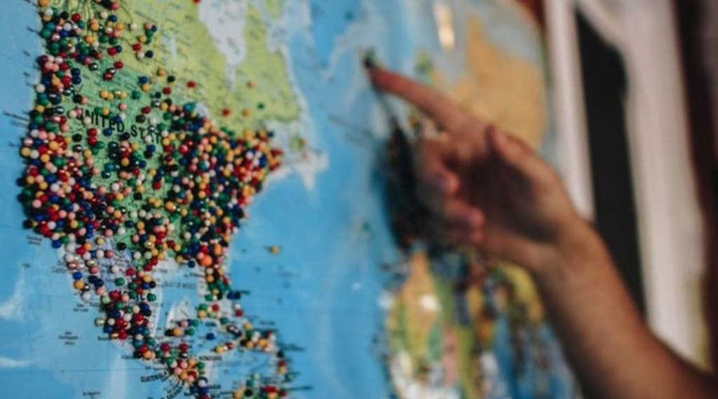 map with free accommodation options worldwide
