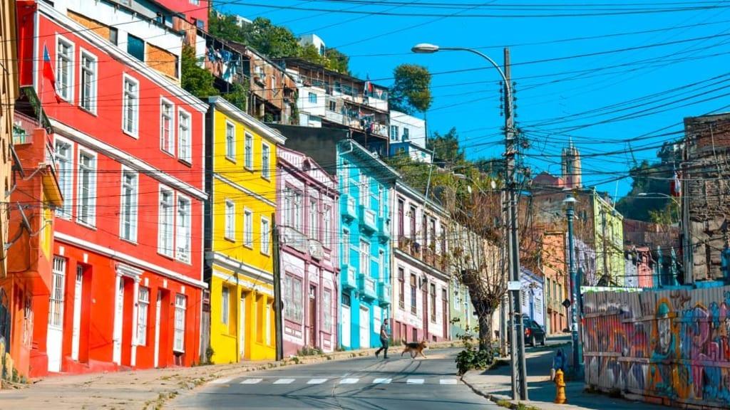 valparaiso, chile casas coloridas