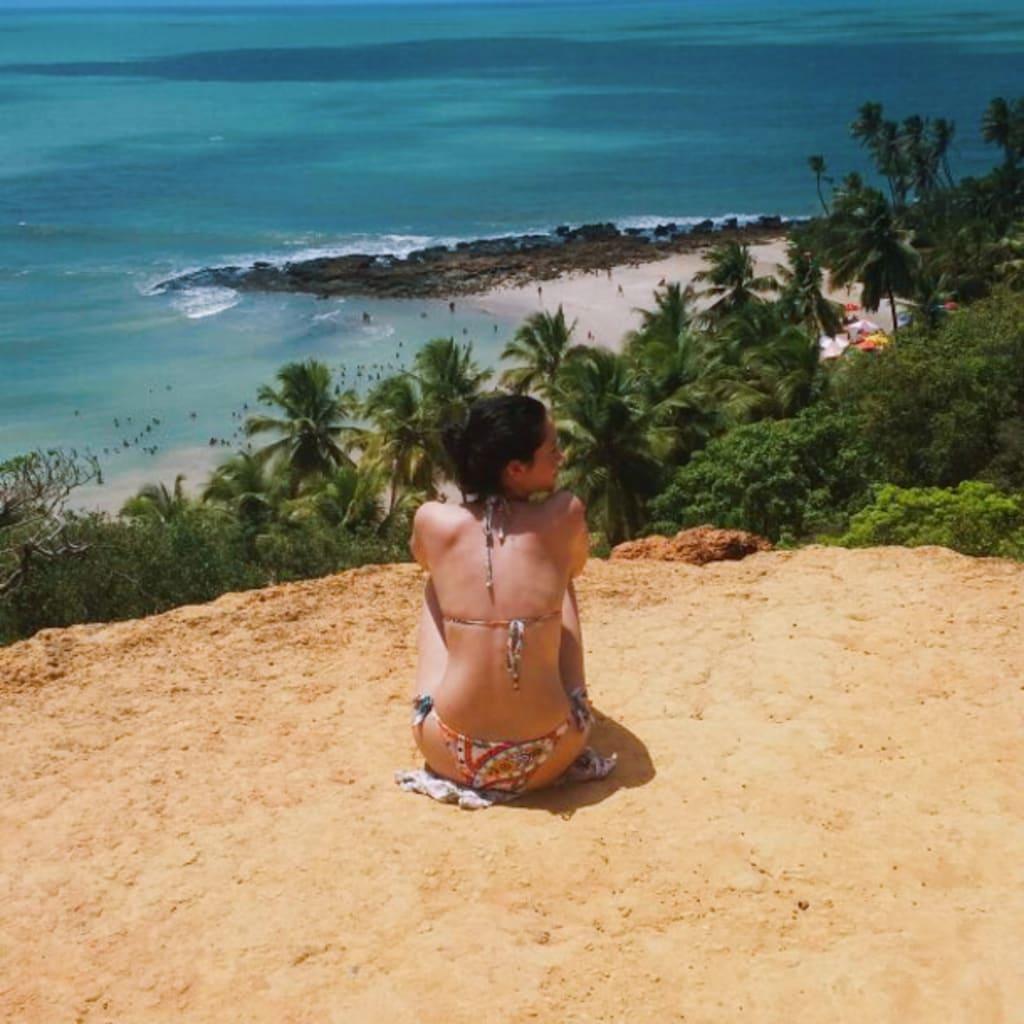 Gabriela durante viagem