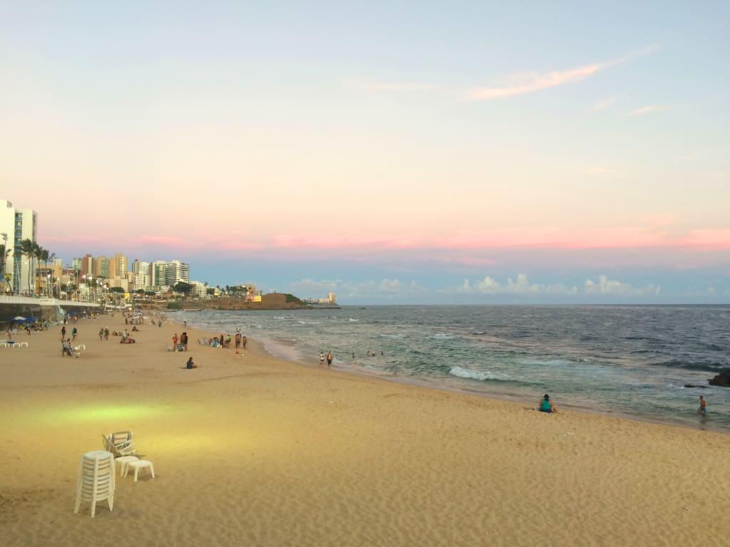 orla da praia em Salvador