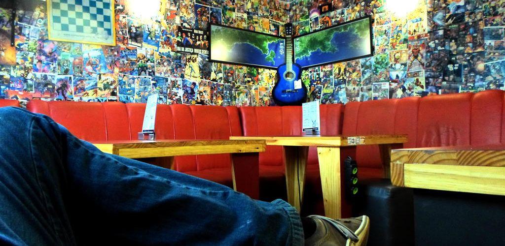 Sala de TV do Beats Hostel