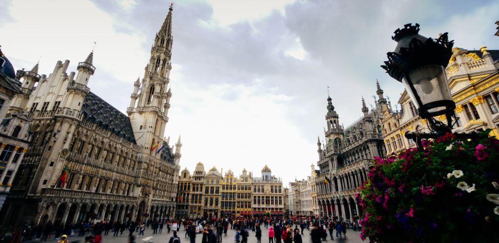 principal praça da capital Bruxelas