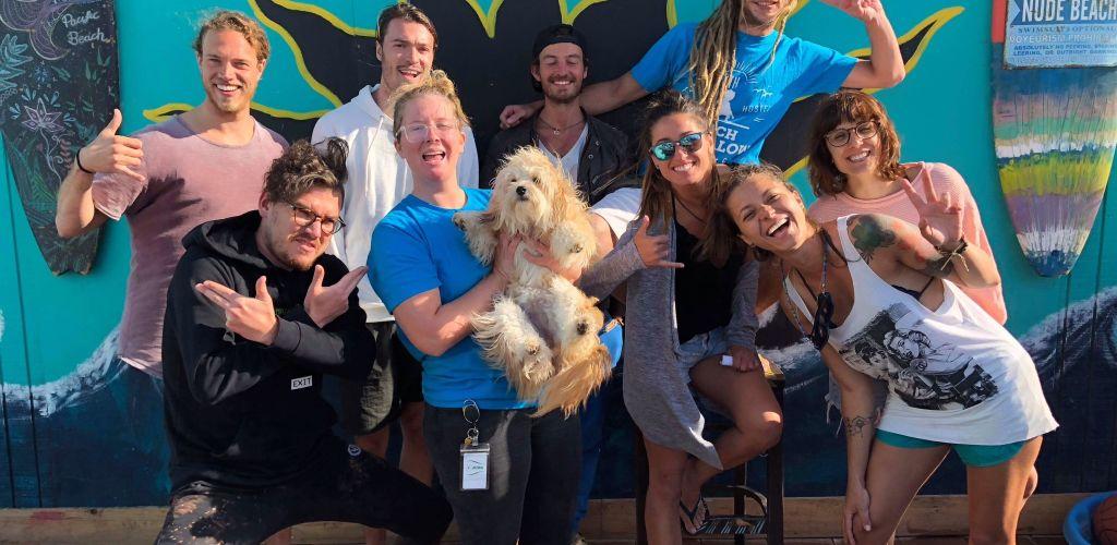 Voluntátia e amigos em San Diego