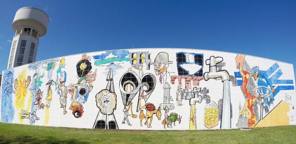 Mural da cidade de Curitiba