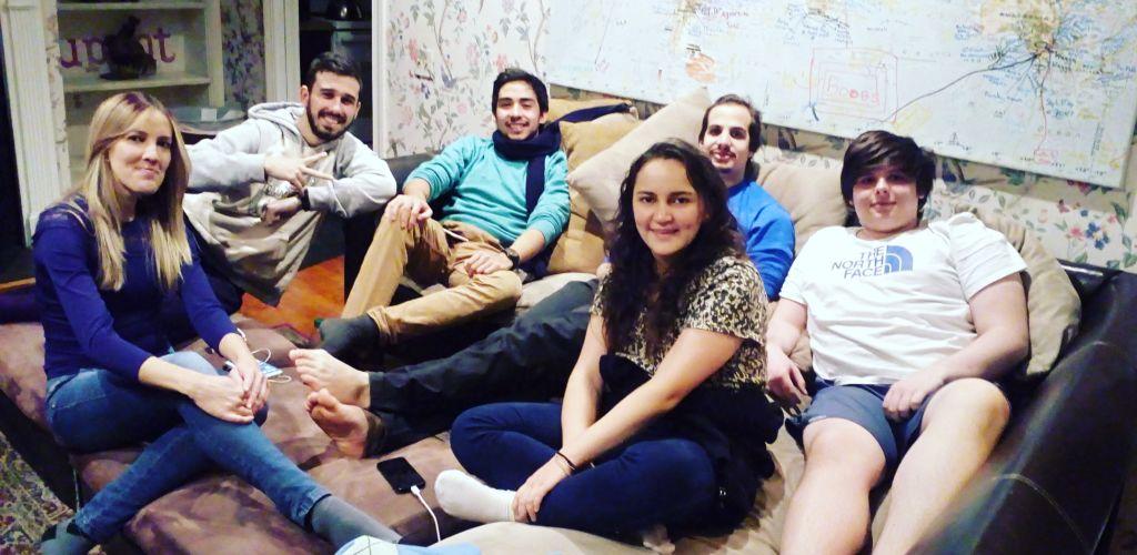 amigos que voluntária fez durante a experiência worldpacker