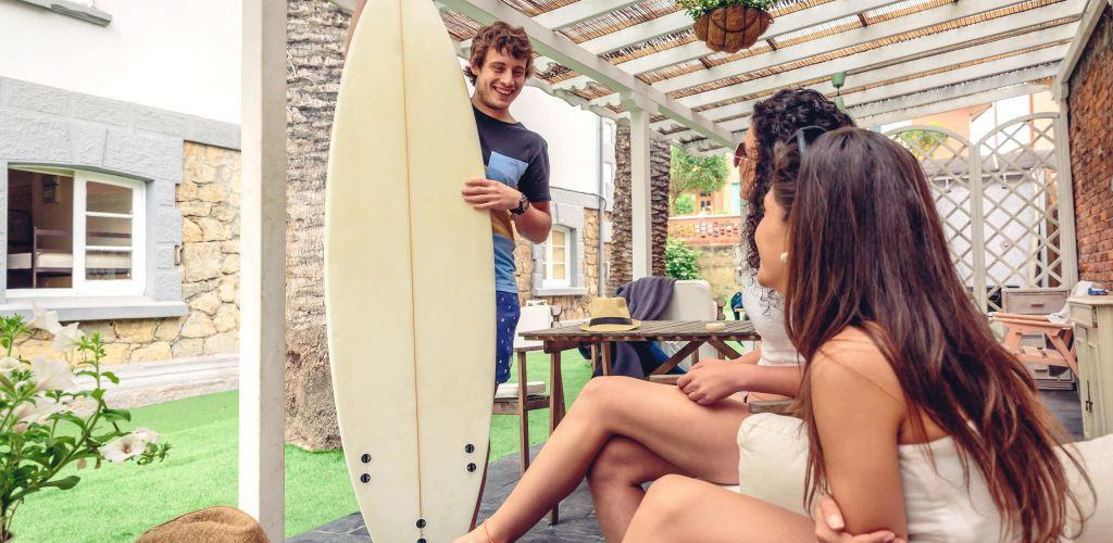 hostel reception at costa rica