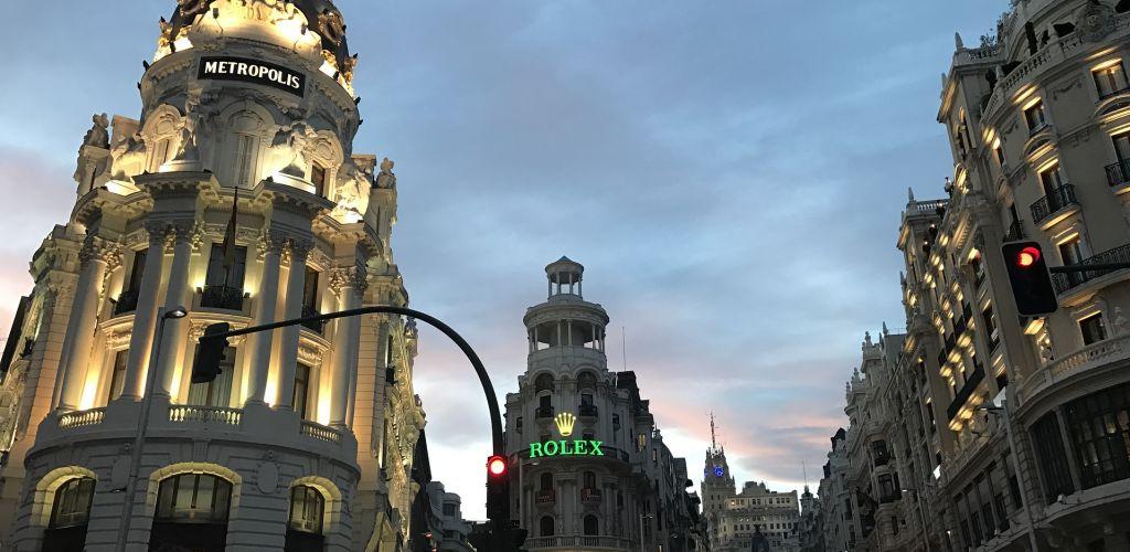 Cidade de Madri é uma das principais da Espanha